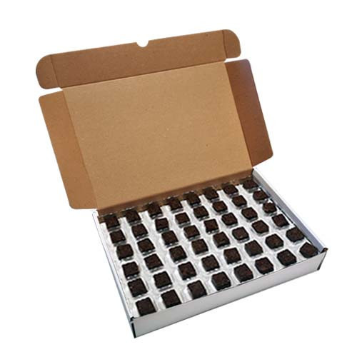 Loose Chocolates - Milk Chocolate Butterscotch Flavour Square with Atlantic Transfer (96 Chocolates Per Box)