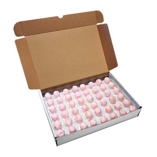 Loose Truffles - White Chocolate Strawberry (Pink) Truffles (96 Truffles Per Box)