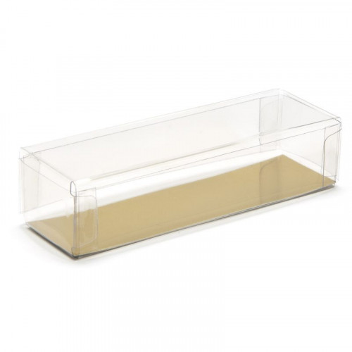 Clear Finger Gift Box Base & Lid - 100mm x 30mm x 23mm Ready Assembled Transparent