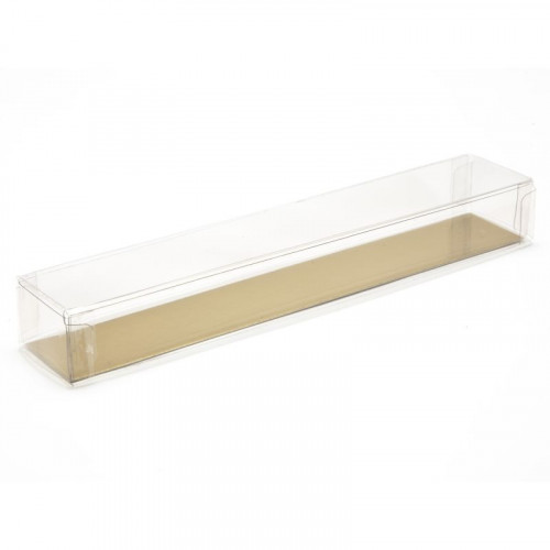 Clear Finger Gift Box Base & Lid - 180mm x 30mm x 23mm Ready Assembled Transparent