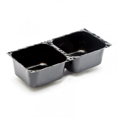 Black 2 Choc Cav Insert Tray - 78mm x 41mm x 32mm