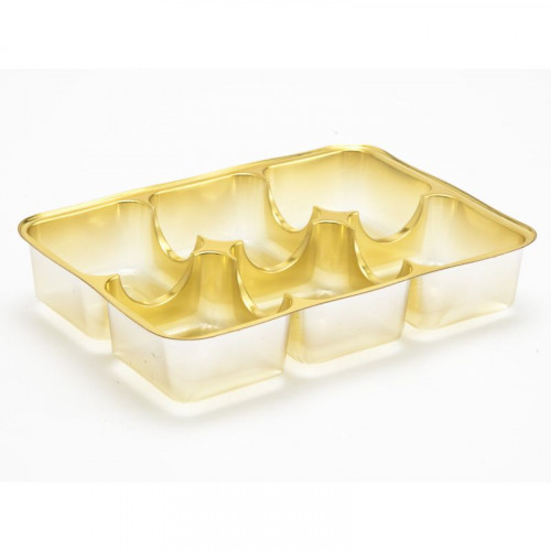 Gold 6 Cav Insert Tray - 112mm x 82mm (Rounded Corners)