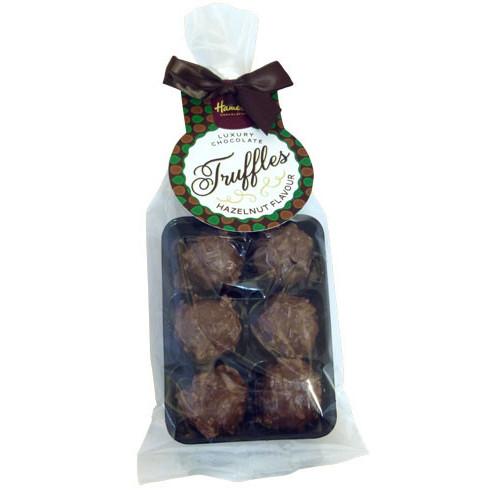 Luxury 6 Truffle Bag - Milk Chocolate with Hazelnut Flavour Truffle with Brown Twist Tie Bow & Swing Tag  x Outer of 20