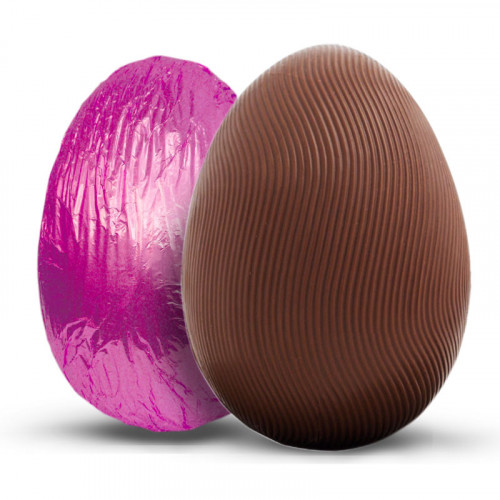 Promotional - 150g Milk Chocolate Easter Egg Wrapped in Pink Foil