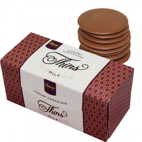 Hames - Luxury Milk Chocolate Thins 145g  x Outer of 12