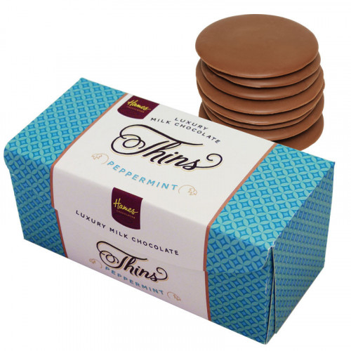 Hames - Luxury Milk Chocolate Peppermint Thins 145g  x Outer of 12