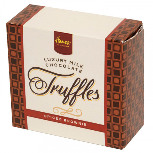 Hames - Luxury Box of 4 Milk Chocolate Spiced Brownie Truffles  x Outer of 18