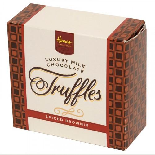 Hames - Luxury Box of 4 Milk Chocolate Spiced Brownie Truffles