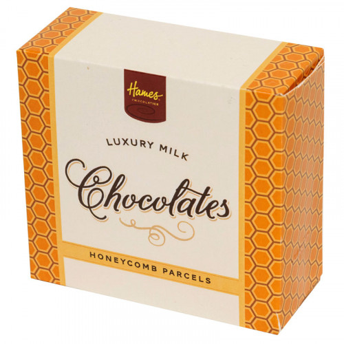 Hames - Luxury Box of 4 Milk Chocolate Honeycomb Parcels  x Outer of 18