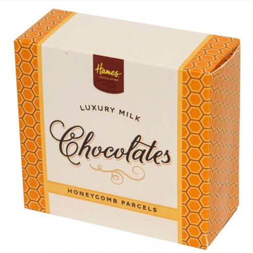 Hames - Luxury Box of 4 Milk Chocolate Honeycomb Parcels