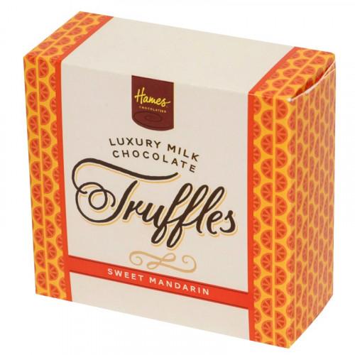 Hames - Luxury Box of 4 Milk Chocolate Sweet Mandarin Truffles
