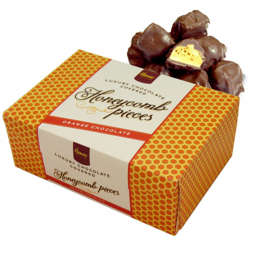 Hames - Luxury Box of Orange Milk Chocolate Covered Honeycomb Pieces 150g  x Outer of 12