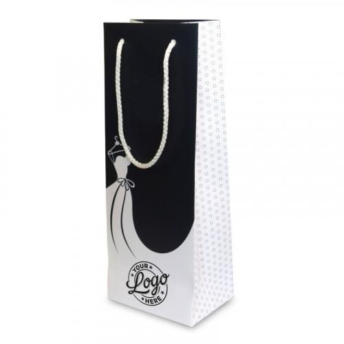 Branded Bottle Bag approx 330mm (H) x 125mm (W) x 90mm (D)