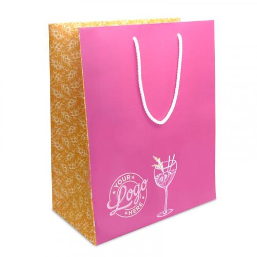 Branded Gift Bag - Medium Portrait approx 320mm (H) x 265mm (W) x 145mm (D)