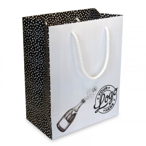 Branded Gift Bag  - Small Portrait approx 245mm (H) x 195mm (W) x 110mm (D)