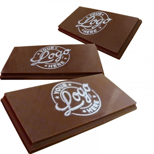 Promotional - Personalised Graphic Milk Chocolate Business Card (80mm x 40mm) Shape