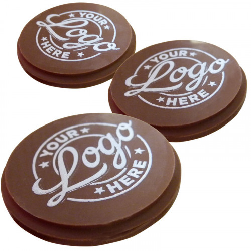 Promotional - Personalised Graphic Milk Chocolate Circle (50mm x 50mm) Shape