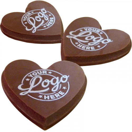 Promotional - Personalised Graphic Milk Chocolate Heart Shape