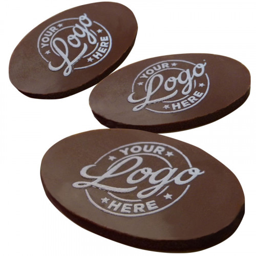 Promotional - Personalised Graphic Milk Chocolate Oval (48mm x 29mm) Shape