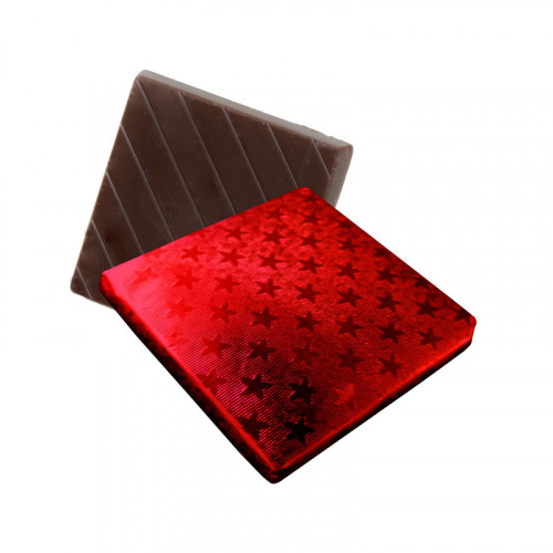 Dark Chocolate Neapolitan Finished in Red Foil
