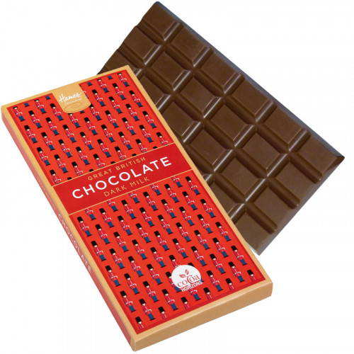 Great British Dark Milk Chocolate Bar - Red London Guard Sleeve 94g (Cocoa Horizons) x Outer of 15
