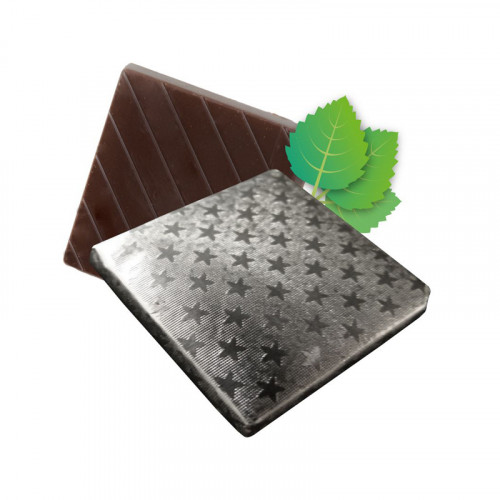Mint Flavoured Dark Chocolate Neapolitan Finished in Silver Foil