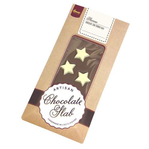 Artisan - Milk Chocolate Bar Decorated with White Chocolate Star Studded Gala
