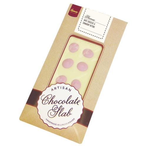 Artisan - White Chocolate Bar Decorated with Strawberry Buttons