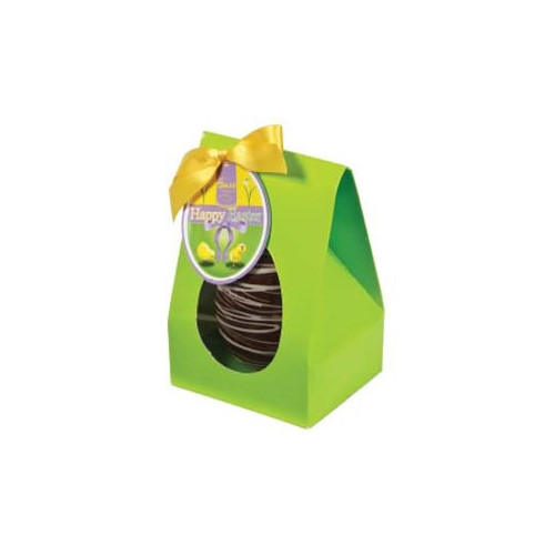 Hames Boxed Easter Egg - Dark 53% Chocolate Egg Decorated with a White Chocolate Finished with a Happy Easter Swing Tag & Twist Tie Bow 100g x Outer of 6