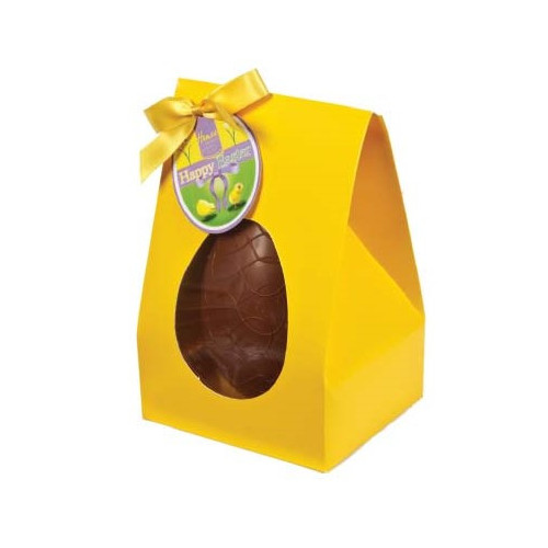 Hames Boxed Easter Egg - Milk Chocolate & Honeycomb Inclusions Finished with a Happy Easter Swing Tag & Twist Tie Bow 200g x Outer of 6