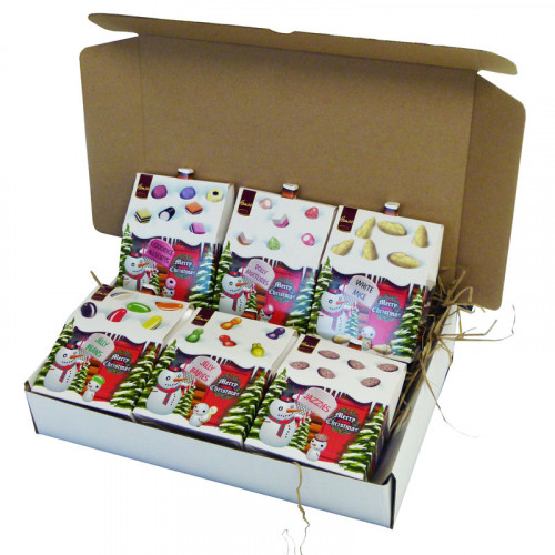 Christmas Candy Cabin Gift Selection - 6 Fun Filled Candy Cabins