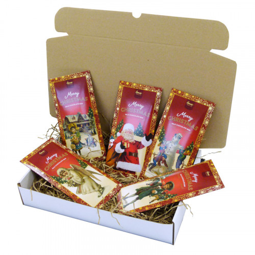 Victorian Christmas Gift Selection of Victorian Themed 80g Milk Chocolate Bars