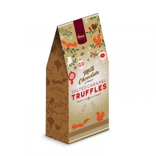 Festive Christmas - Salted Caramel Flavour Milk Chocolate Truffles