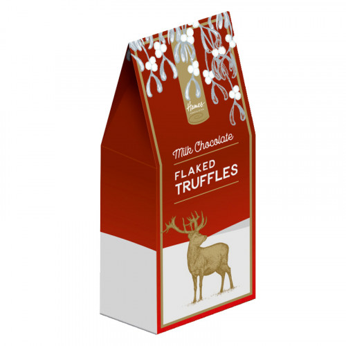 Festive Stag - Flaked Milk Chocolate Truffles
