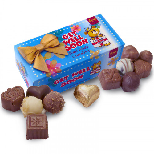Sentiments Chocolate & Truffles Assortment Ballotin - Get Well Soon