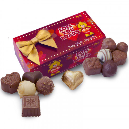 Sentiments Chocolate & Truffles Assortment Ballotin - Love You Loads