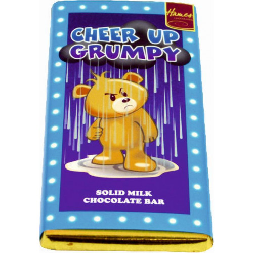 Sentiment - Personal 80g Milk Chocolate Bar - Cheer Up Grumpy x Outer of 12
