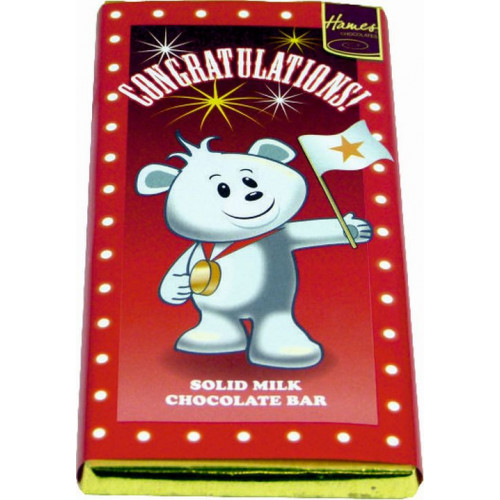 Sentiment - Personal 80g Milk Chocolate Bar - Congratulations  x Outer of 12