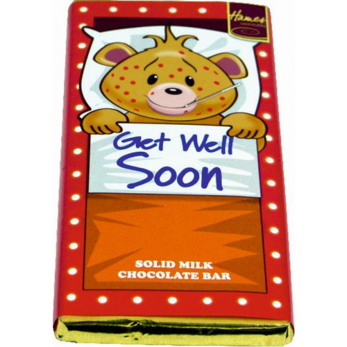 Sentiment - Personal 80g Milk Chocolate Bar - Get Well Soon x Outer of 12