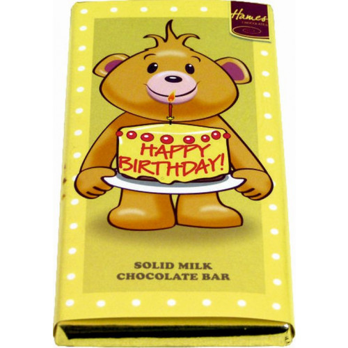 Sentiment - Personal 80g Milk Chocolate Bar - Happy Birthday x Outer of 12