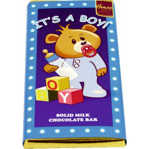 Sentiment - Personal 80g Milk Chocolate Bar - It's a Boy  x Outer of 12
