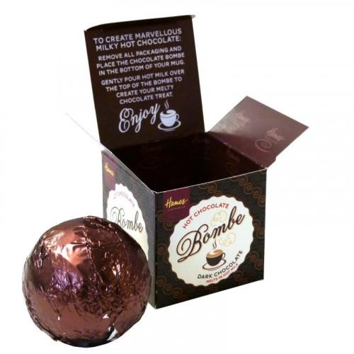 Hames Hot Chocolate Bombe - Dark Chocolate Rainforest Alliance Cocoa