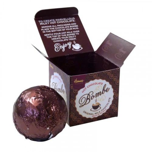 Hames Hot Chocolate Bombe - Milk Chocolate Rainforest Alliance Cocoa