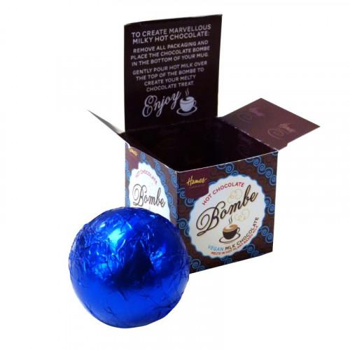 "Hames Hot Chocolate Bombe - VEGAN FRIENDLY ""Alternative"" Milk Chocolate Cocoa Horizons Cocoa"