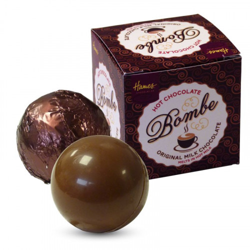 Hames Pack of 2Hot Chocolate Bombes - Milk Chocolate & a Dark Chocolate Rainforest Alliance MB Cocoa