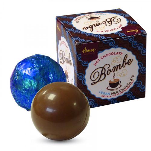 "Hames Pack of 2Hot Chocolate Bombes - VEGAN FRIENDLY ""Alternative"" Milk Chocolate"
