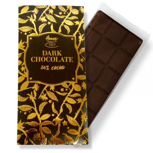 Bronze Collection - Vegan Friendly Dark Chocolate 56% Cocoa 80g Bar Finished with a Black Sleeve and a Bronze Foil Print