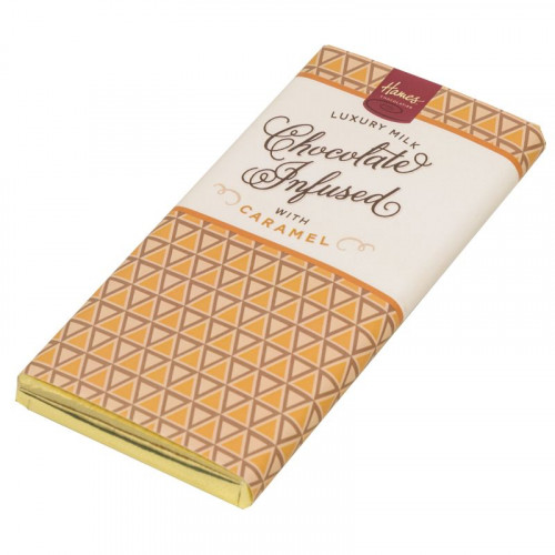 Infusion Chocolate Bar - Caramel Infused Milk Chocolate Bar 80g x Outer of 12