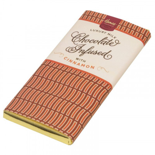 Infusion Chocolate Bar - Cinnamon Infused Milk Chocolate Bar 80g x Outer of 12