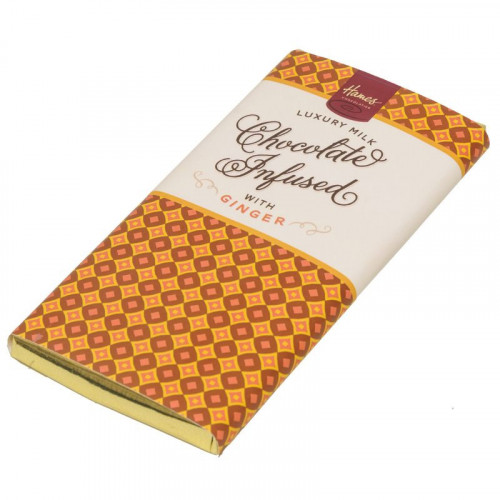 Infusion Chocolate Bar - Ginger Infused Milk Chocolate Bar 80g x Outer of 12